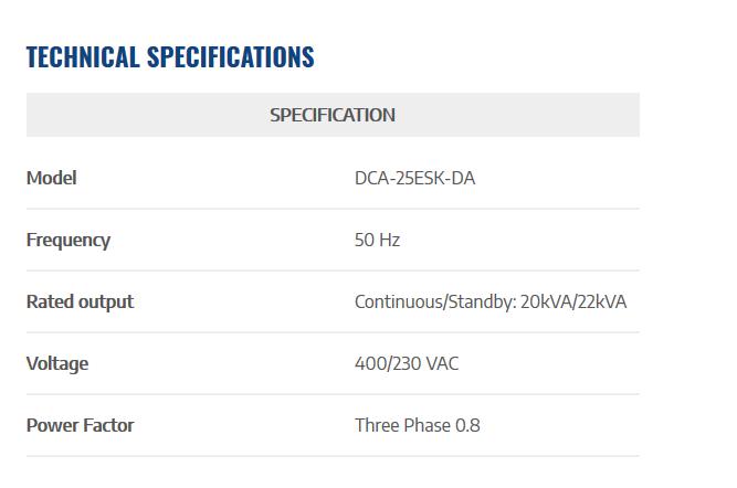 adonstore.com -DCA-25ESK-DA-2-spec